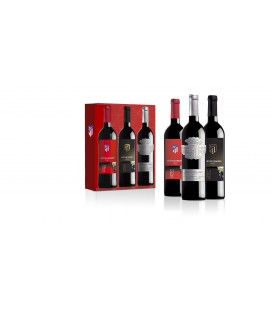 Pack de tres botellas Atletico de Madrid